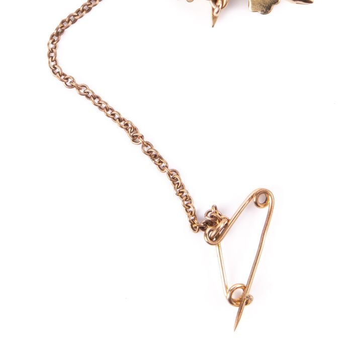 15K Gold Victorian Pearl Starbust Brooch - Image 5 of 6