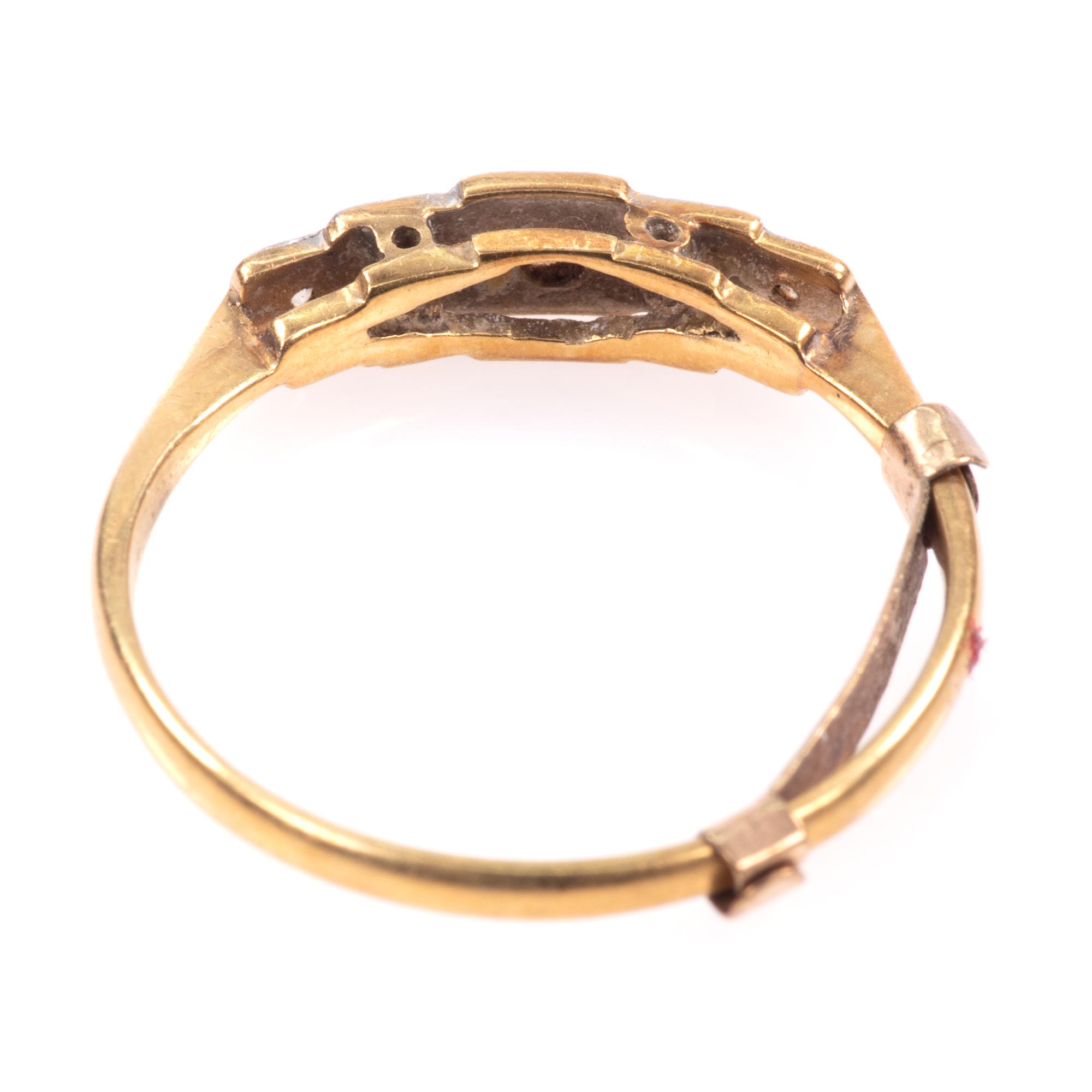 18ct Gold & Platinum Art Deco Diamond Ring - Image 6 of 9
