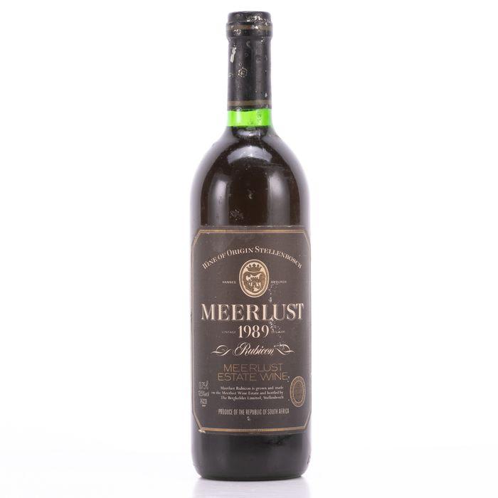 Meerlust 1989 Wine - Cabernet Sauvignon - 1 Bottle (0.75L)