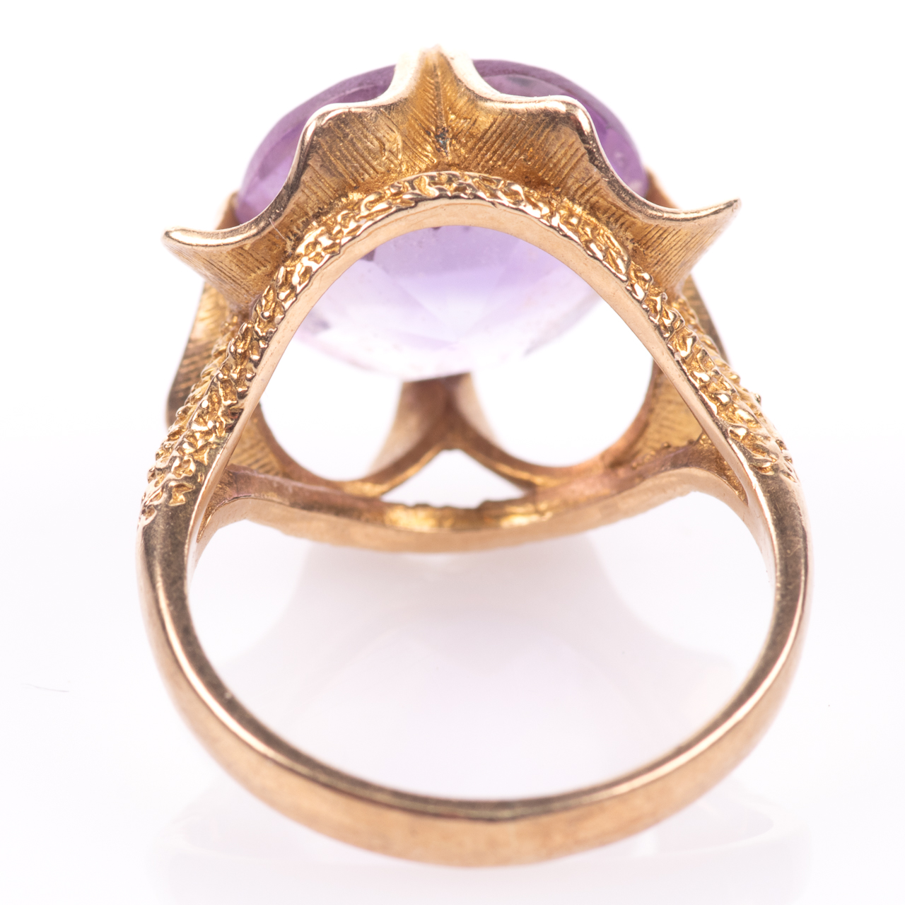 9ct Gold 6.45ct Amethyst Ring London 1974 - Image 6 of 8