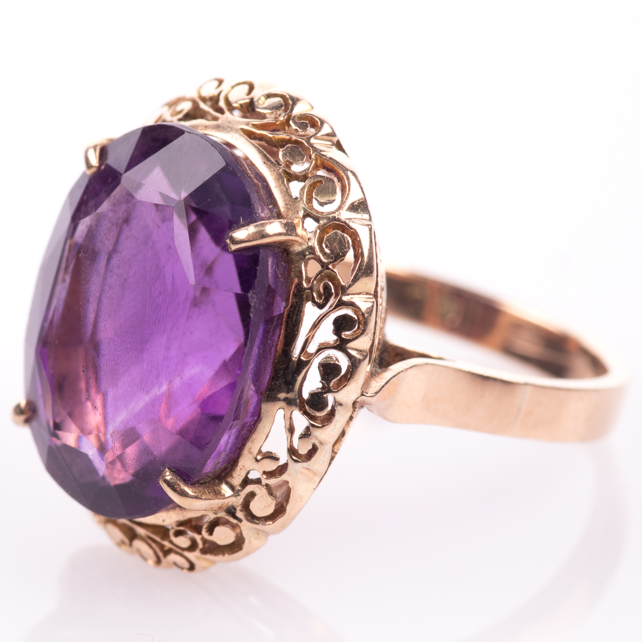 14ct Gold Amethyst Ring - Image 4 of 7