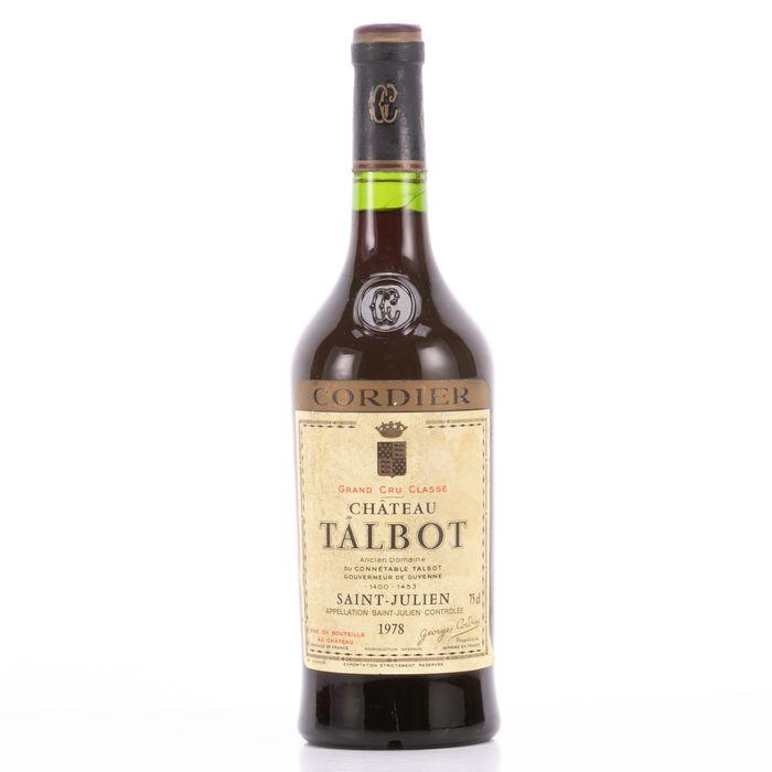 1978 Chateau Talbot Grand Cru Classé 0.75L Wine Saint Julien