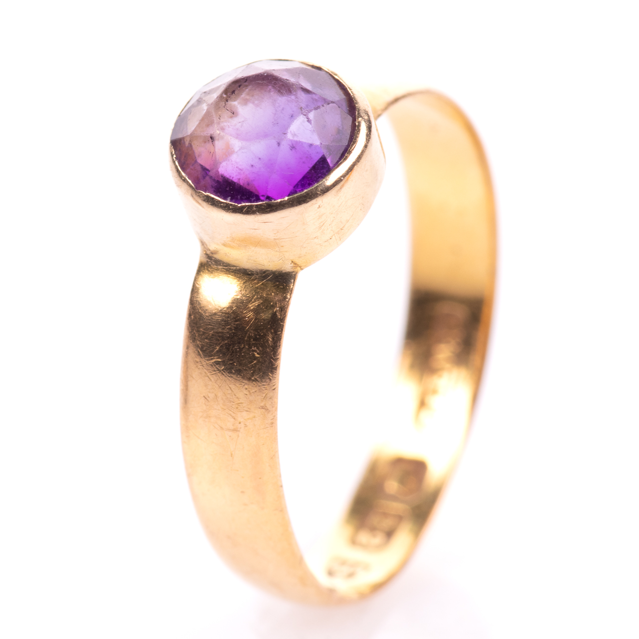 22ct Gold Victorian Amethyst Ring Chester 1899, Howard & Walsh