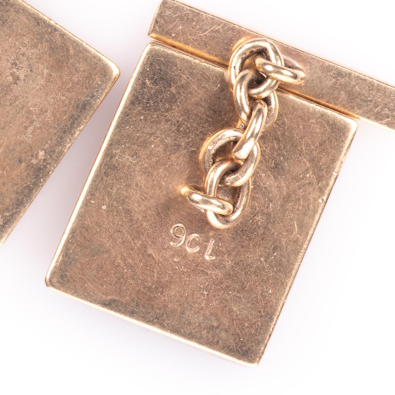 9ct Gold Gentleman's Lapis Lazuli Cufflinks - Image 5 of 5