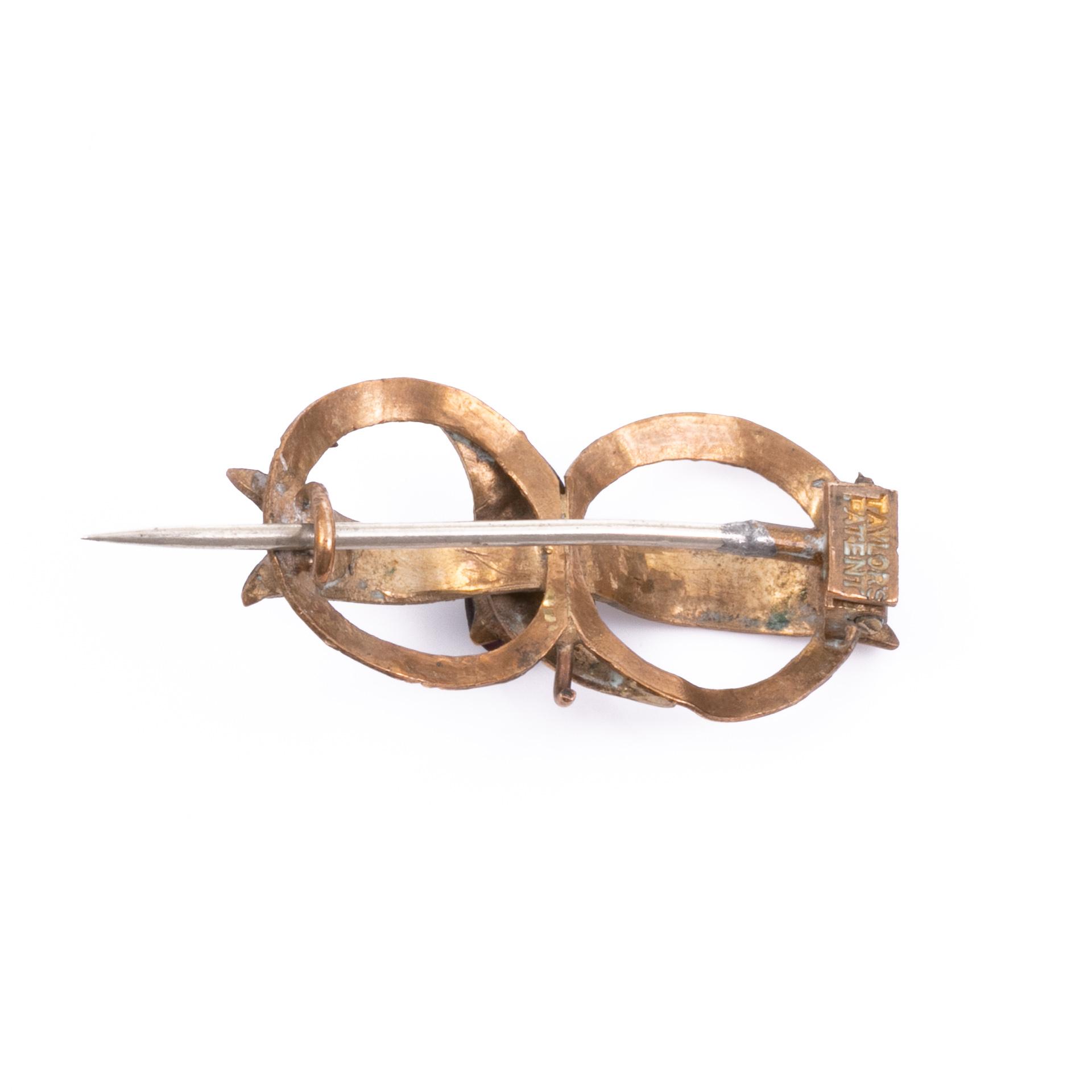 Victorian Gilt Garnet Brooch - Image 2 of 2