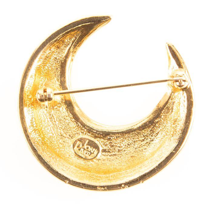 Joan Rivers Crescent Moon Designer Brooch - Image 3 of 3