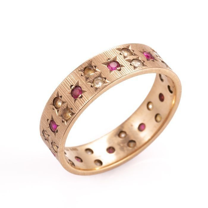 9ct Gold Art Deco Ruby Ring