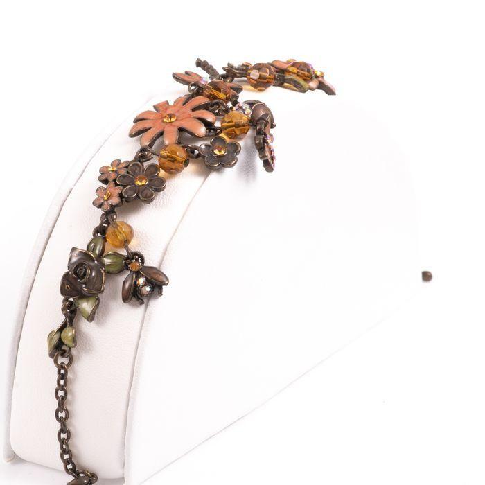 Bronze & Enamel Floral Bracelet - Image 3 of 4