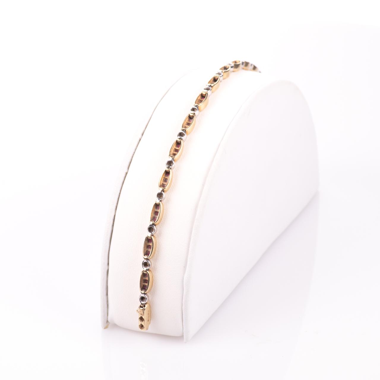 9ct Gold 2ct Ruby & Diamond Tennis Bracelet - Image 5 of 6