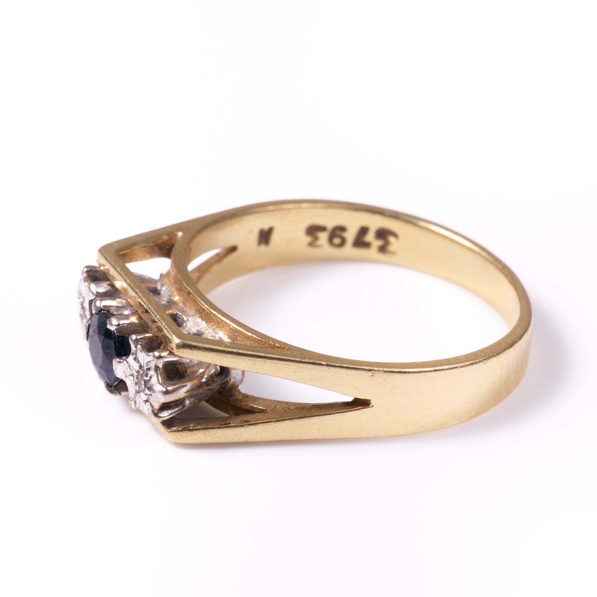 18ct Gold Sapphire & Diamond Ring - Image 3 of 6