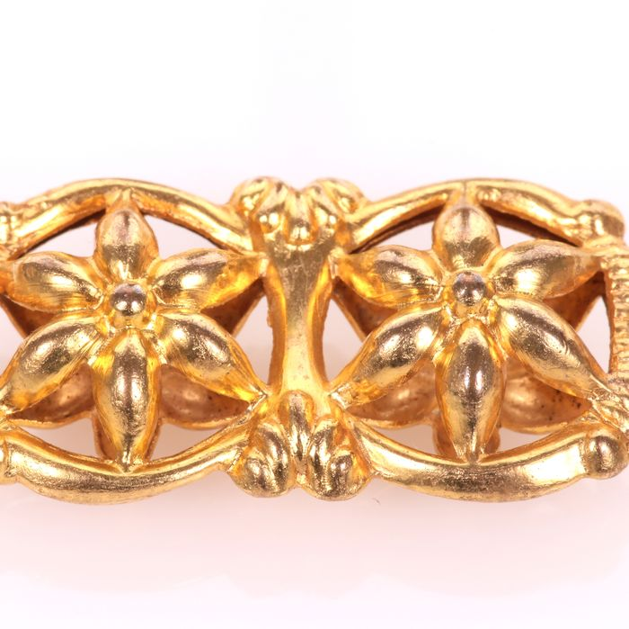 Victorian Gilt Enamel Necklace - Image 4 of 7