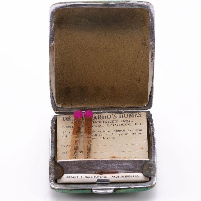 Edwardian Snakeskin Cigarette Case or Match Holder - Image 2 of 6