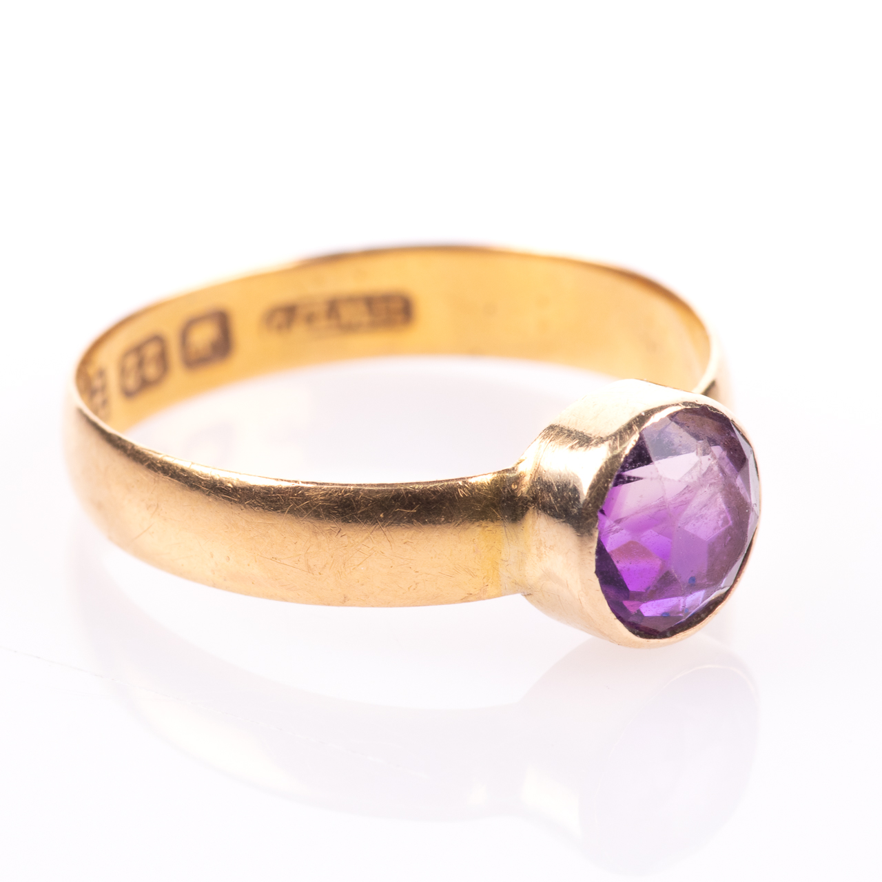 22ct Gold Victorian Amethyst Ring Chester 1899, Howard & Walsh - Image 7 of 7