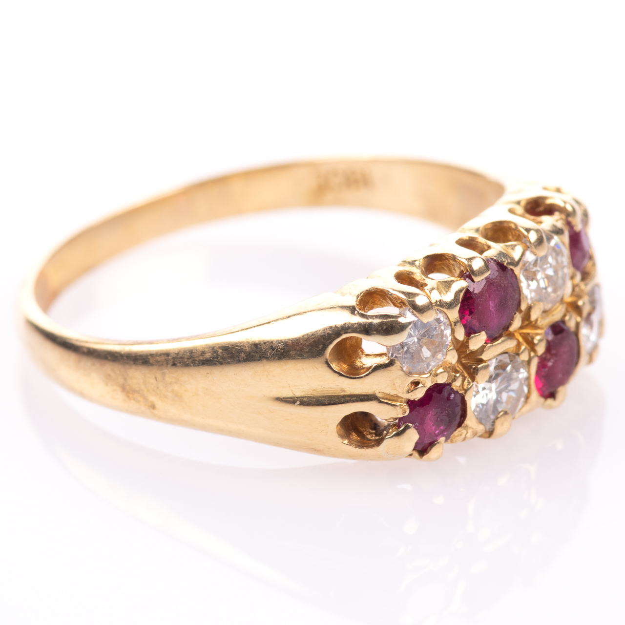 18ct Gold 0.60ct Ruby & 0.50ct Diamond Ring - Image 7 of 7