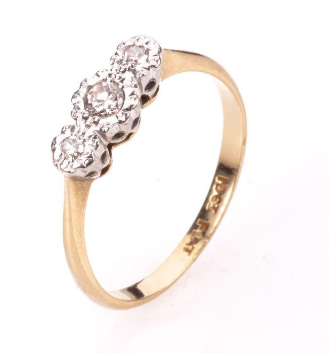 18ct Gold & Platinum Diamond Ring