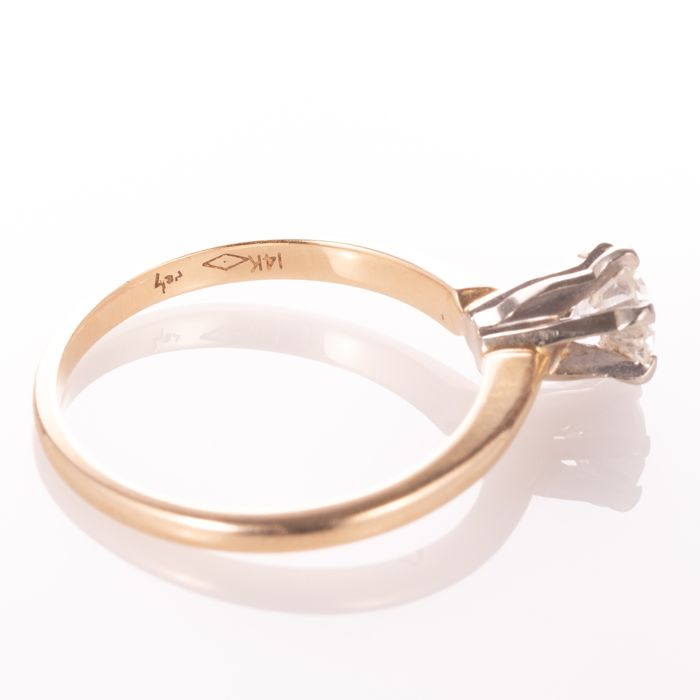 14ct Gold 0.50ct Diamond Solitaire Ring - Image 6 of 7