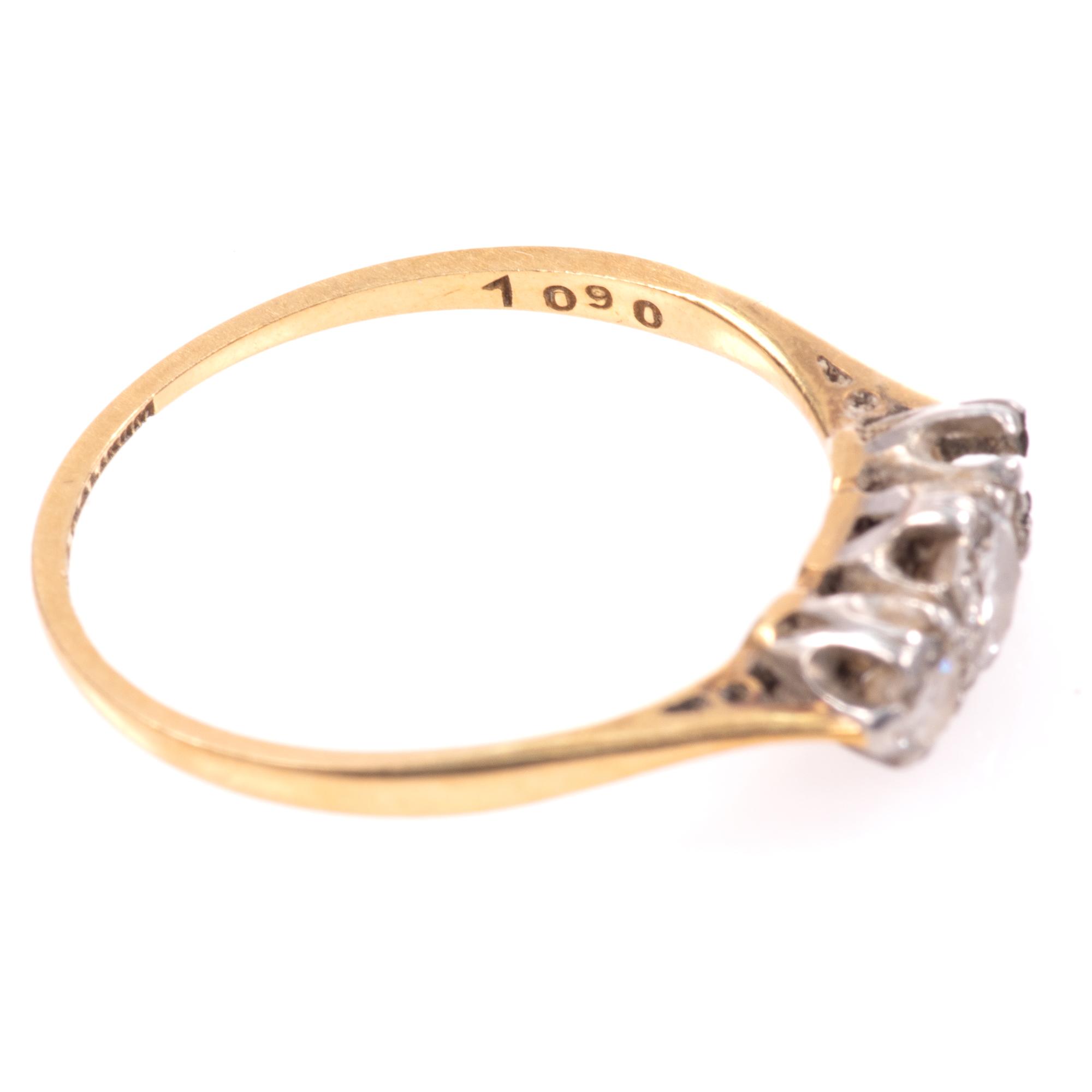18ct Gold & Platinum 0.40ct Diamond Ring - Image 7 of 8