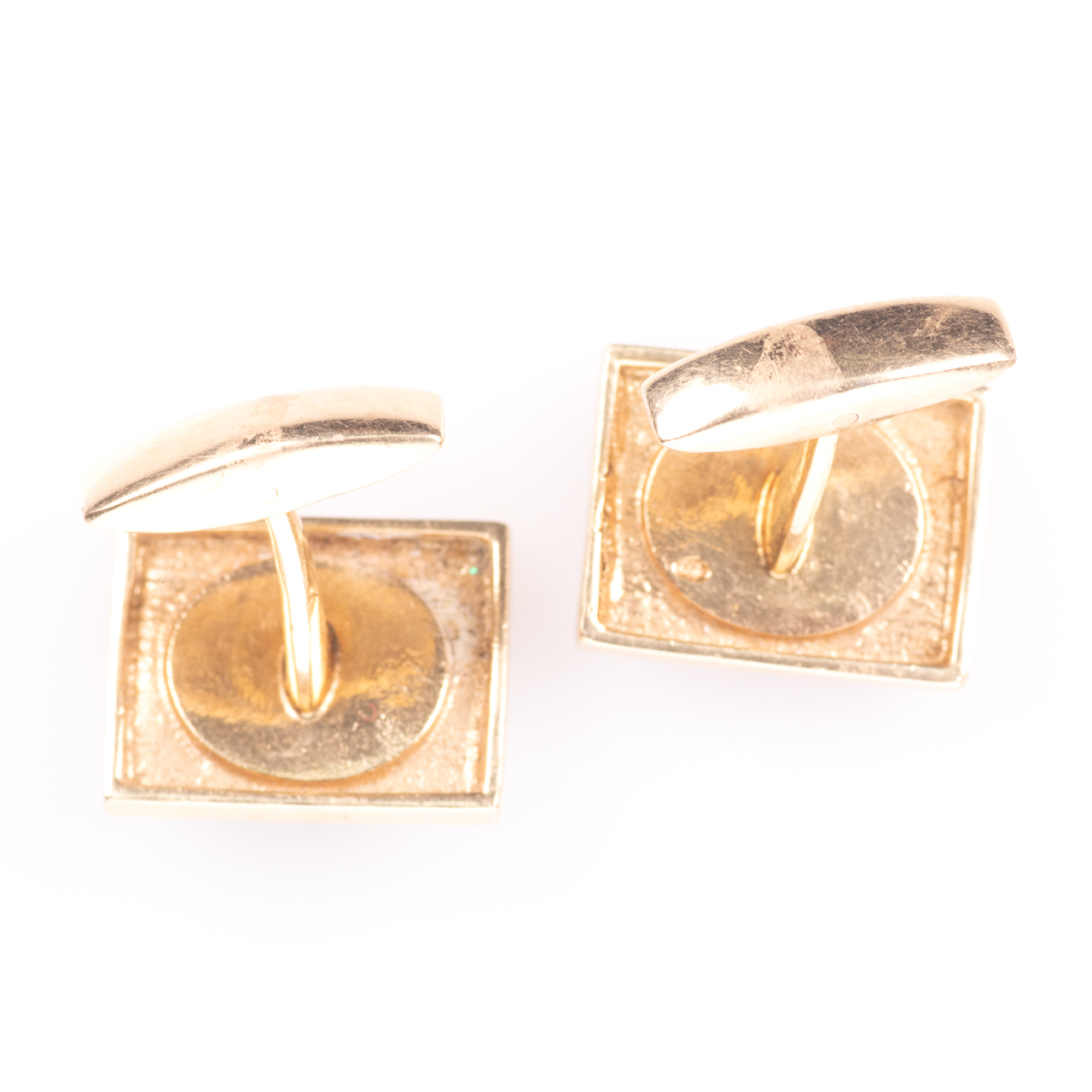 14ct Gold Gentleman's Black Lightning Opal Cufflinks - Image 4 of 6