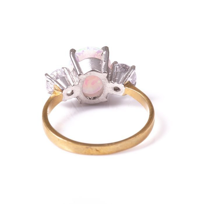 Opal & Paste Gilded Ring - Image 4 of 5