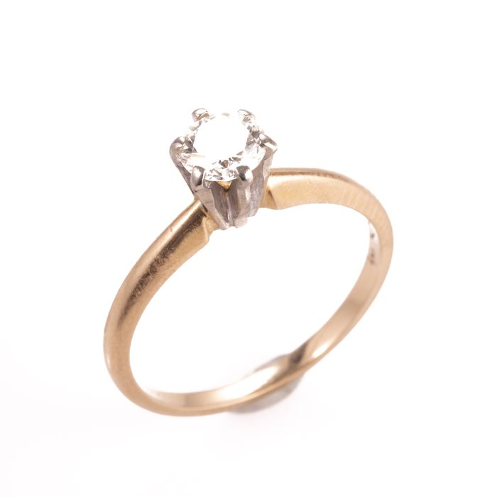 14ct Gold 0.50ct Diamond Solitaire Ring