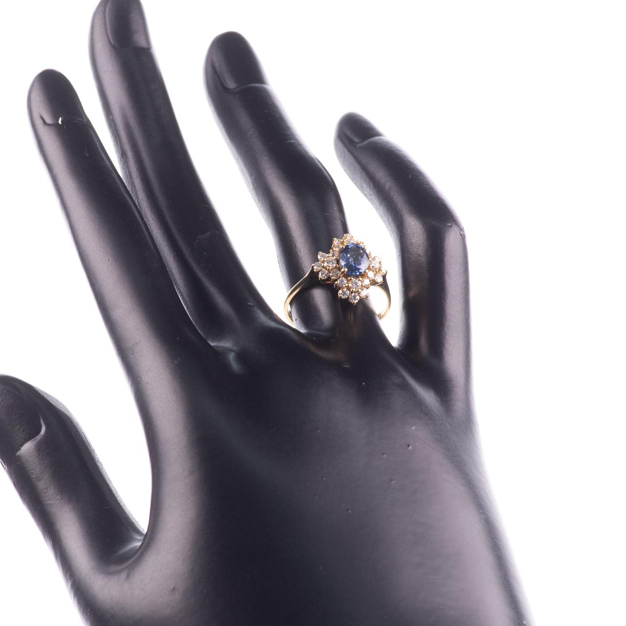 18ct Gold 1ct Sapphire & 0.70ct Diamond Ring - Image 3 of 8