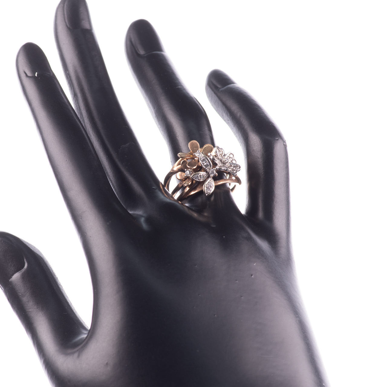 18ct Pink Gold Floral 0.25ct Diamond Ring - Image 2 of 7
