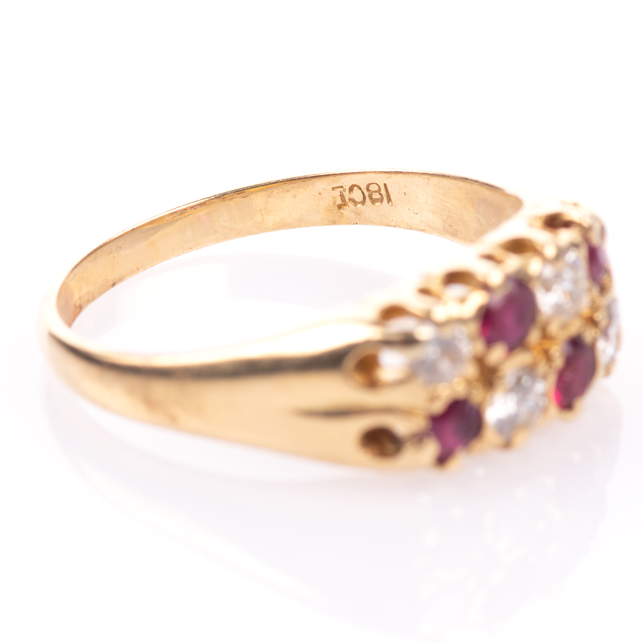 18ct Gold 0.60ct Ruby & 0.50ct Diamond Ring - Image 6 of 7