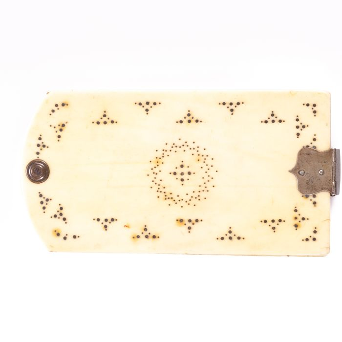 George III Marine Ivory Aide Memoire ca. 1800 - Image 2 of 4