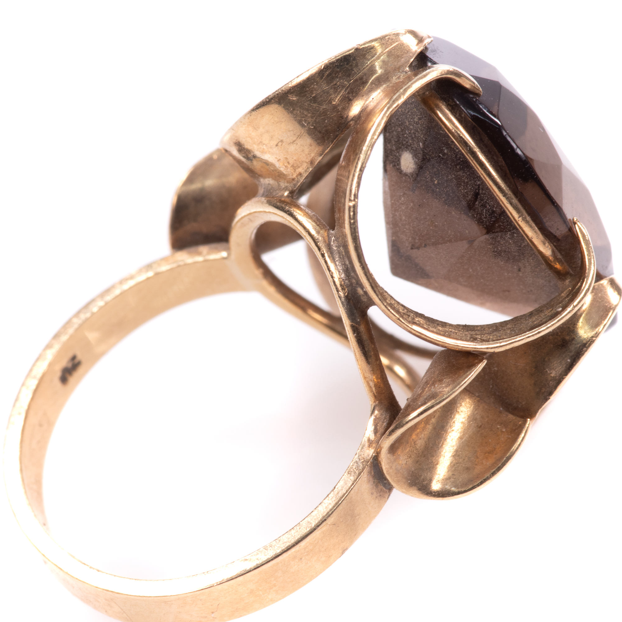 9ct Gold 12.75ct Smoky Quartz Ring - Image 5 of 7