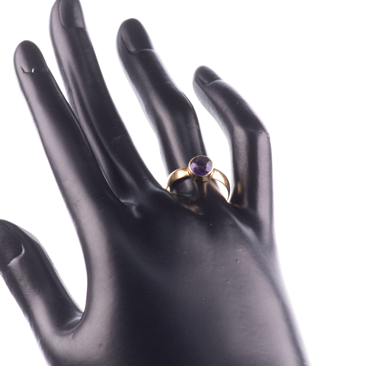 22ct Gold Victorian Amethyst Ring Chester 1899, Howard & Walsh - Image 2 of 7