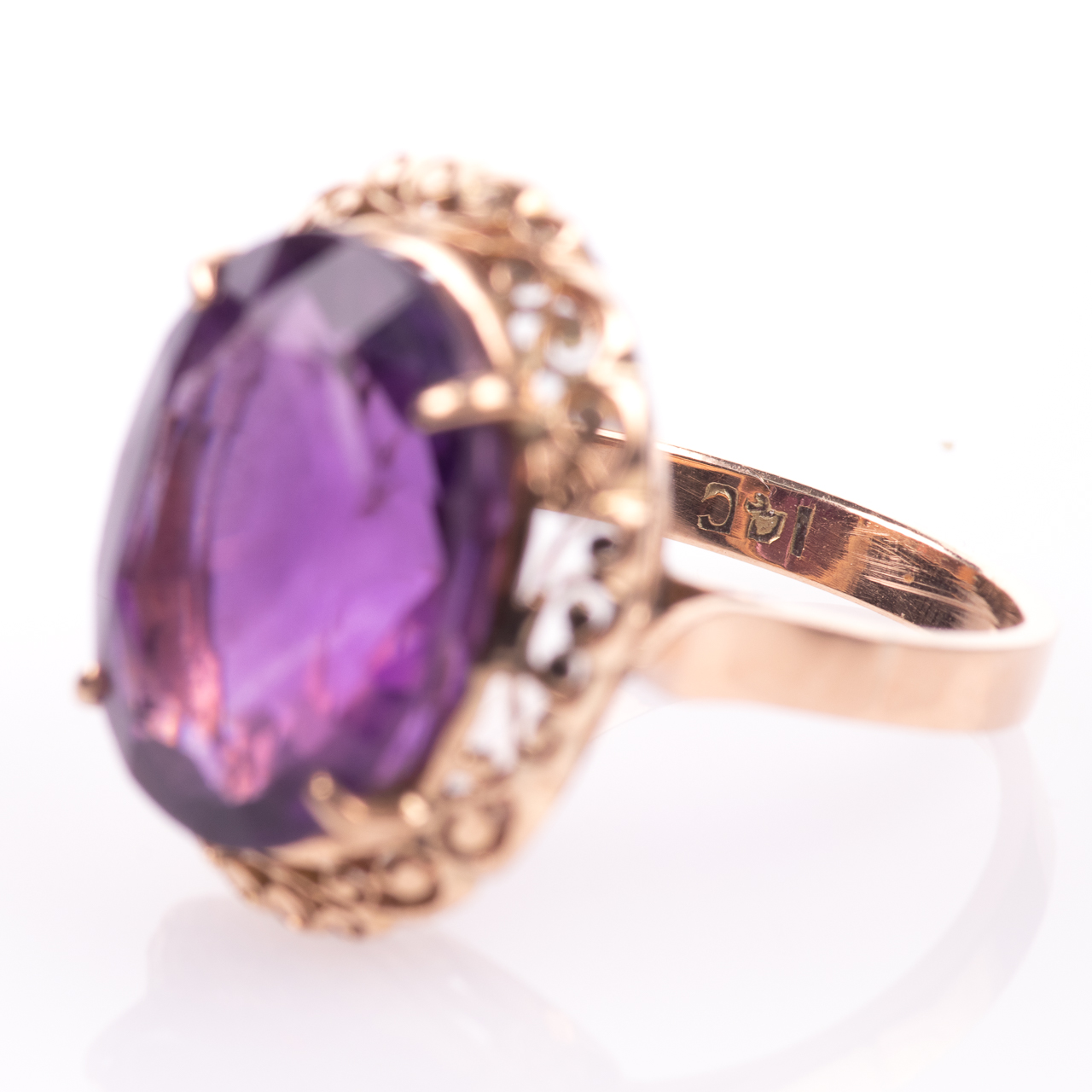14ct Gold Amethyst Ring - Image 5 of 7