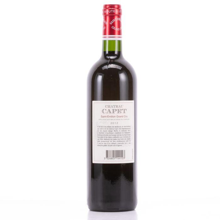 Chateau Capet 2012 Wine - Saint-Emilion - 1 Bottle (0.75L) - Image 2 of 4
