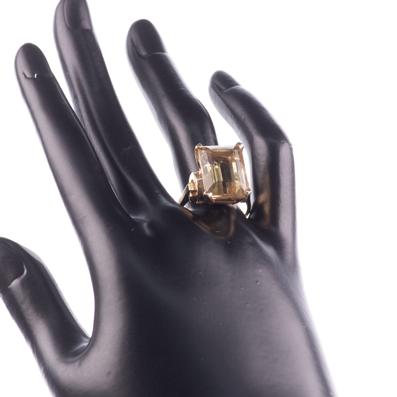 14ct Gold 15ct Citrine Ring - Image 2 of 7