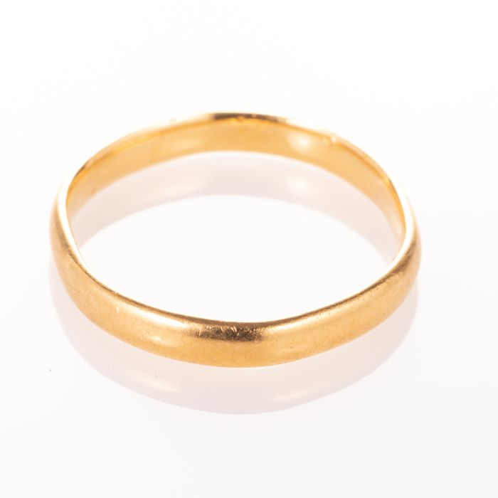 22ct Gold Wedding Band Ring Birmingham 1951 - Image 6 of 6