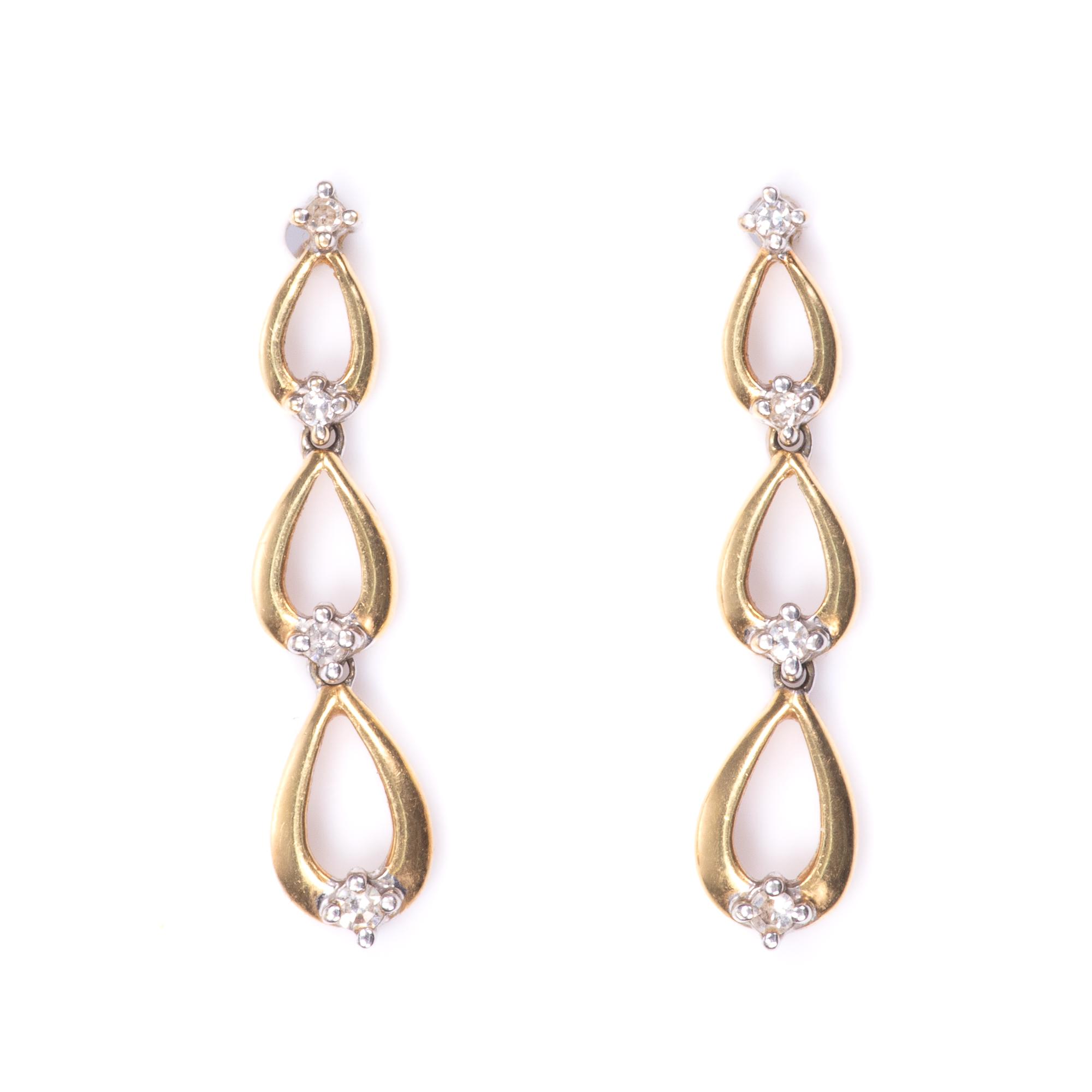 18ct Gold Diamond Earrings