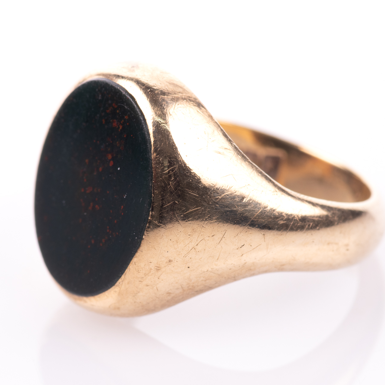 9ct Gold Bloodstone Birmingham Signet Ring - Image 4 of 7
