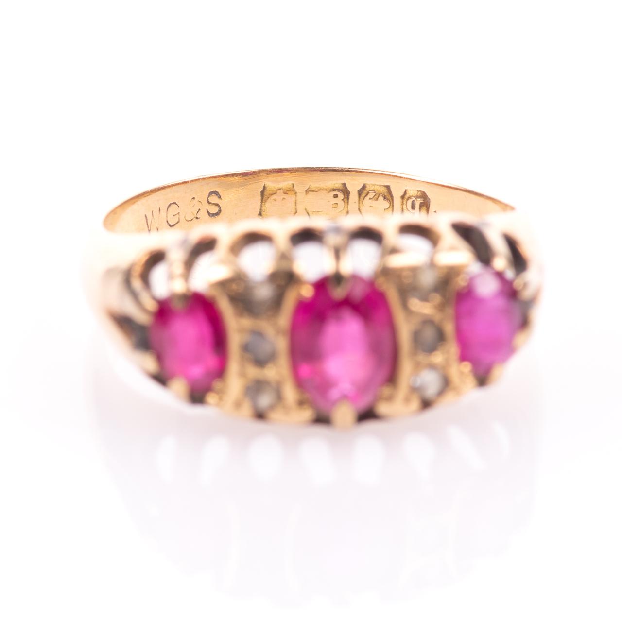 18ct Gold 1.20ct Ruby & Diamond Ring Birmingham 1915 - Image 4 of 7