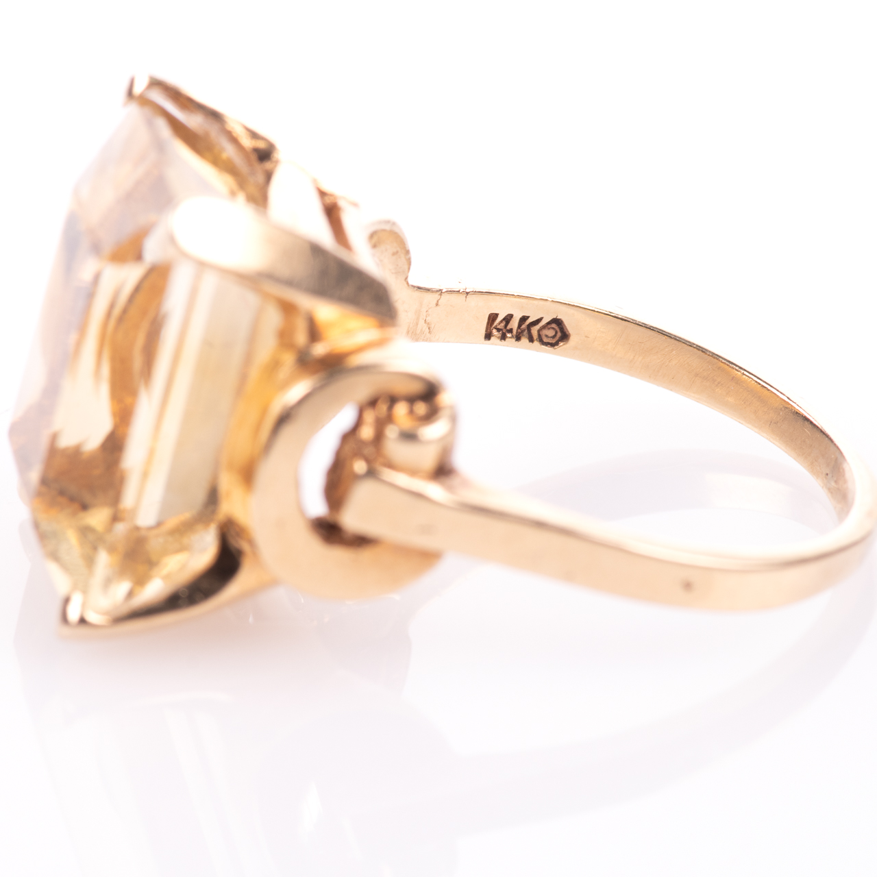 14ct Gold 15ct Citrine Ring - Image 5 of 7
