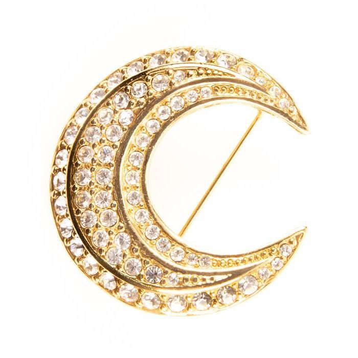 Joan Rivers Crescent Moon Designer Brooch