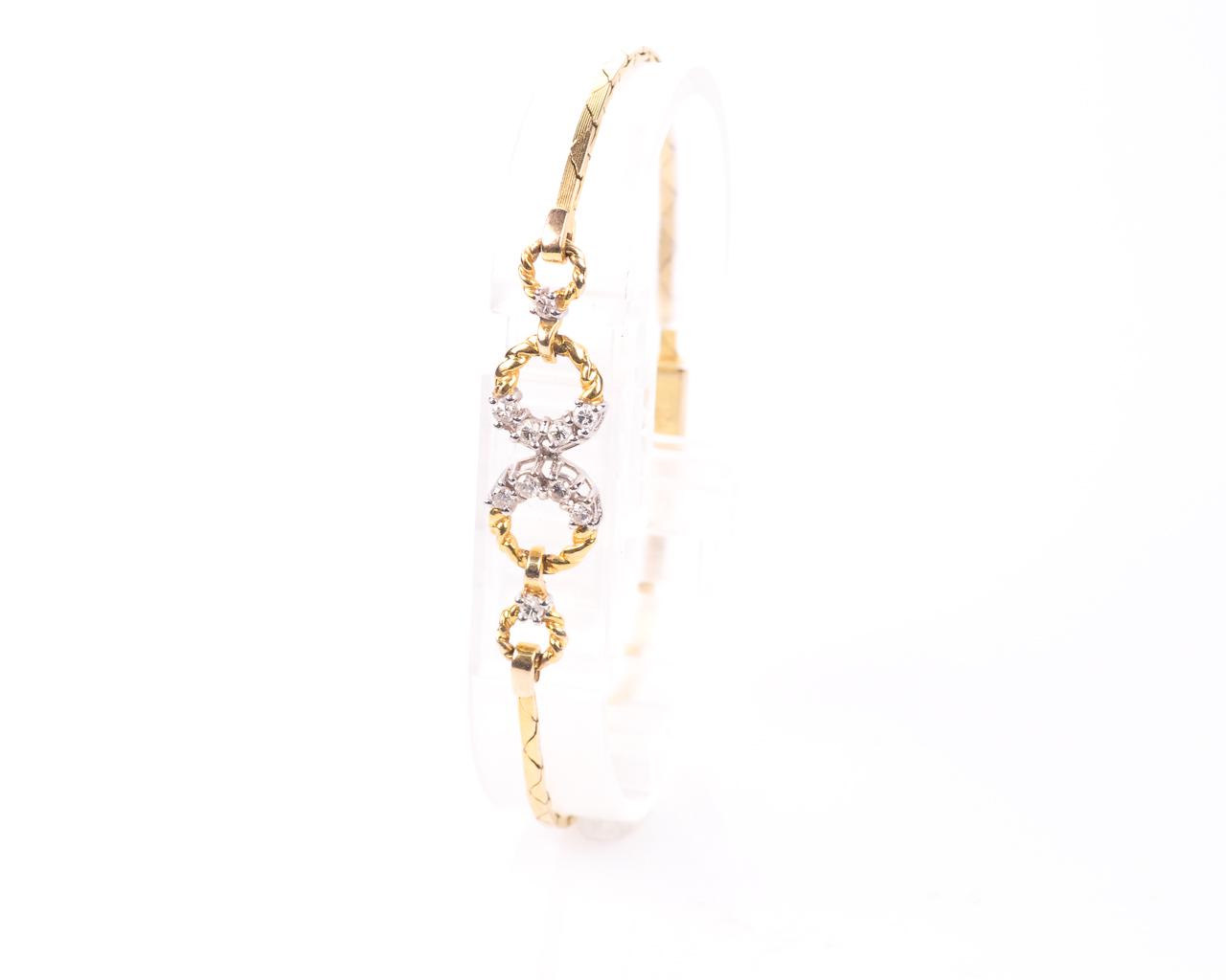 18ct Gold 0.30ct Diamond Bracelet