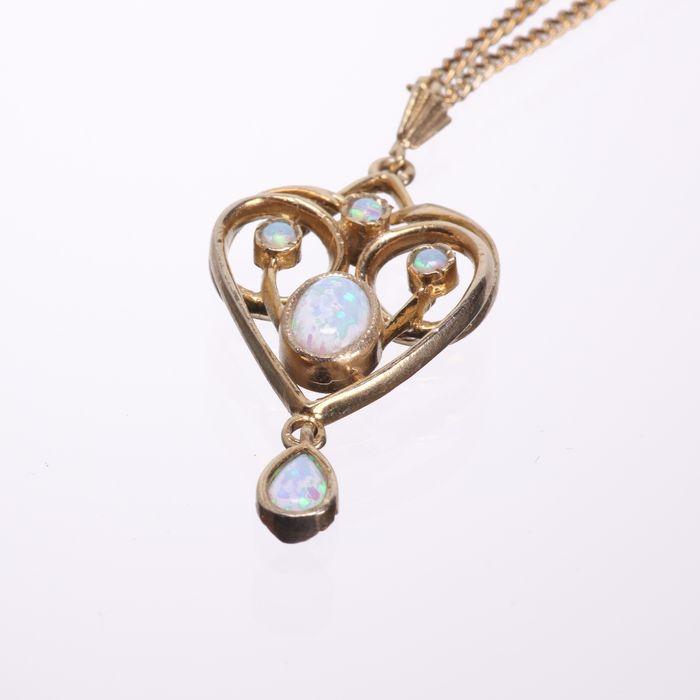 Gilt Opal Pendant Necklace - Image 3 of 5
