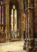 FRANK MOSS BENNETT (1874-1953) Ex Christie's Cathedral Interior