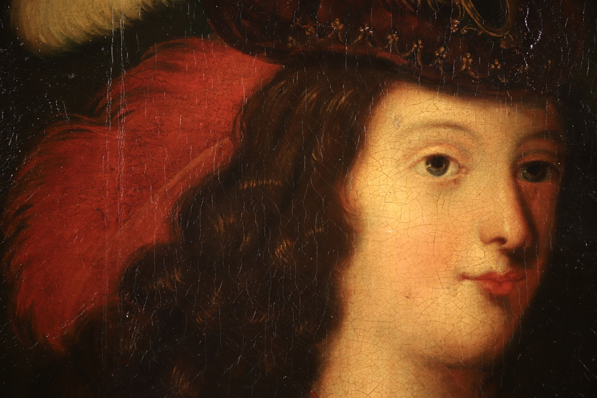 XVII French Old Master Portrait (ca 1660) - Image 9 of 11