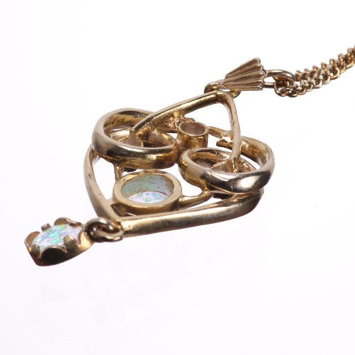 Gilt Opal Pendant Necklace - Image 4 of 5