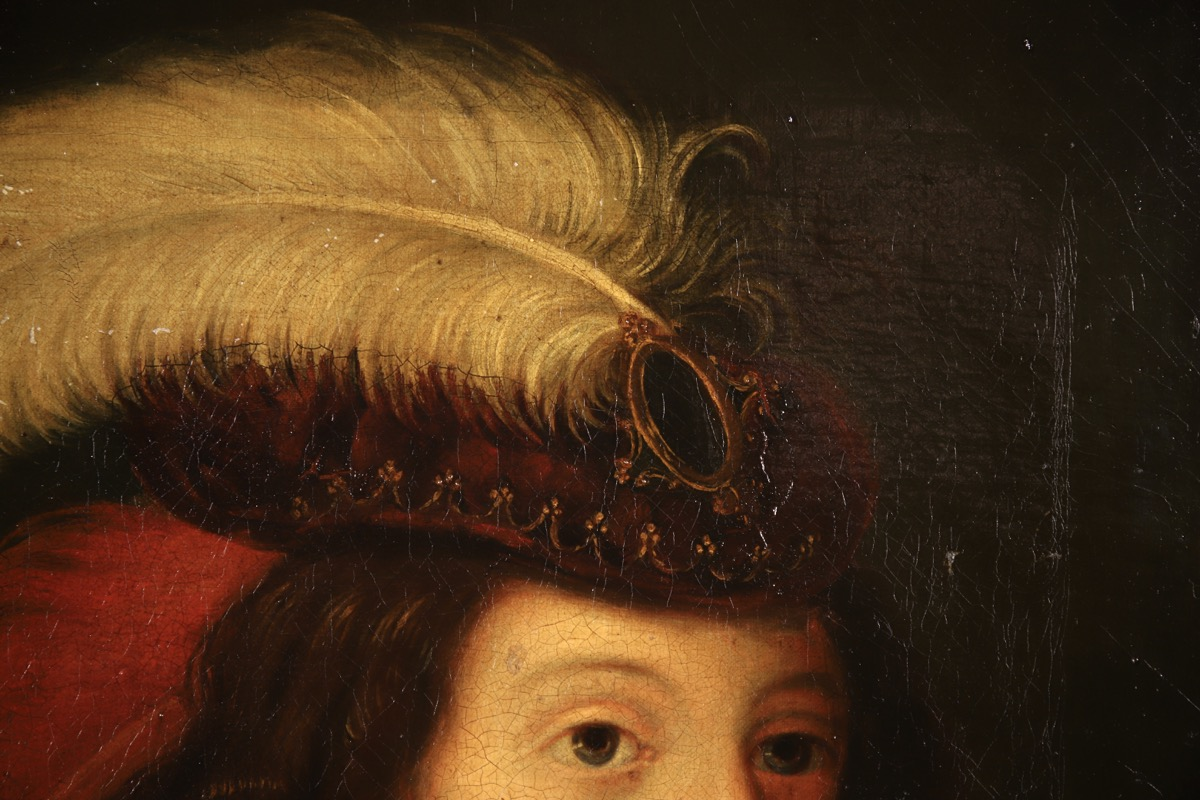 XVII French Old Master Portrait (ca 1660) - Image 7 of 11