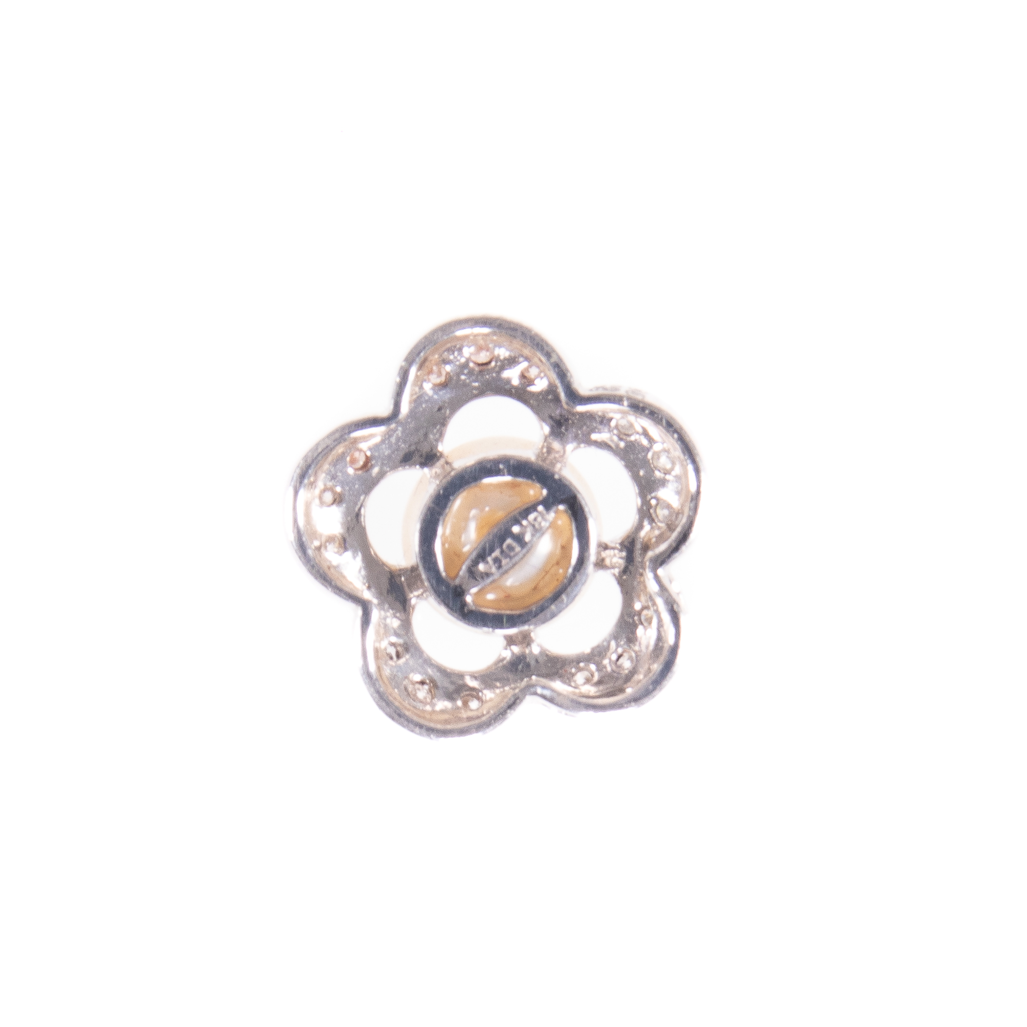 18ct White Gold Diamond & Pearl Floral Pendant - Image 4 of 6