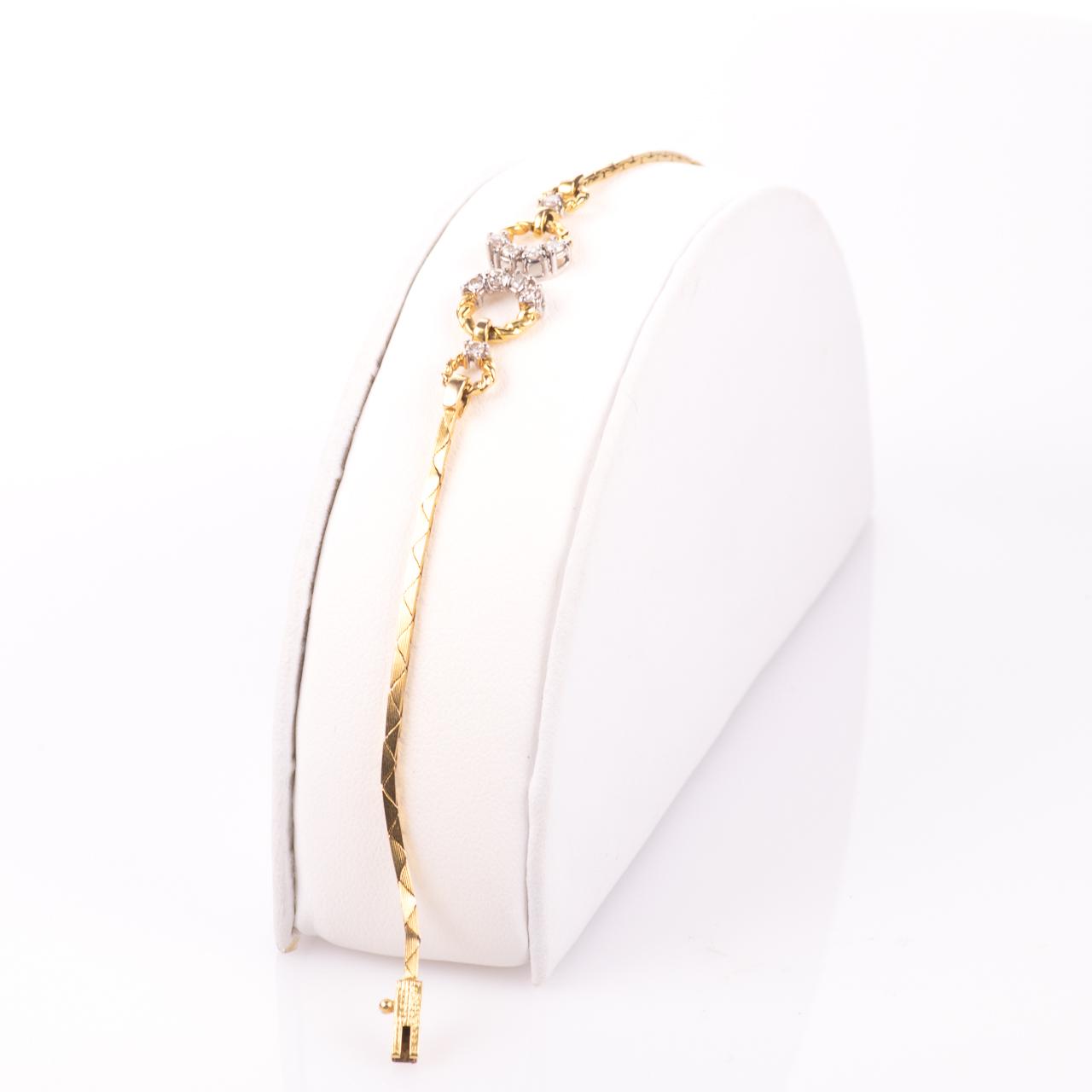 18ct Gold 0.30ct Diamond Bracelet - Image 4 of 6
