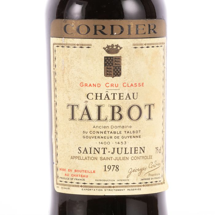 1978 Chateau Talbot Grand Cru Classé 0.75L Wine Saint Julien - Image 2 of 3