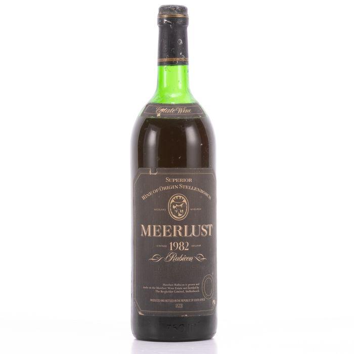 Meerlust 1982 Wine - Cabernet Sauvignon - 1 Bottle (0.75L)