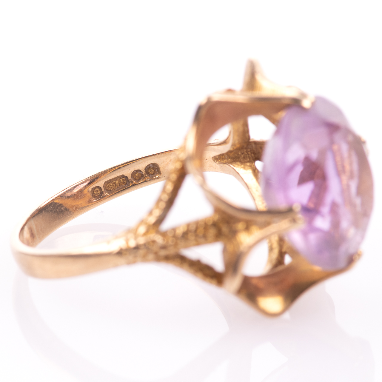 9ct Gold 6.45ct Amethyst Ring London 1974 - Image 8 of 8